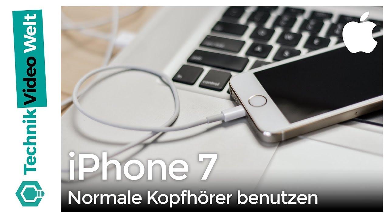 iphone 7 kopfh rer adapter f r lightning anschluss youtube. Black Bedroom Furniture Sets. Home Design Ideas