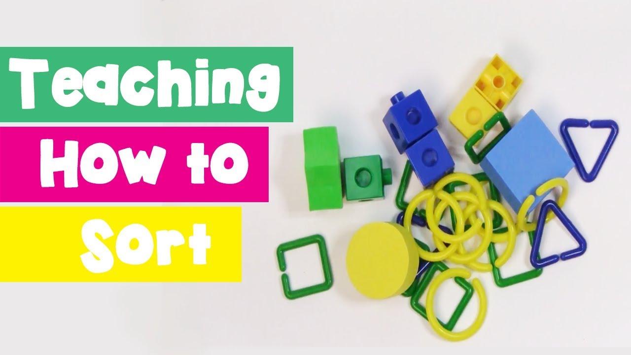 Sorting by Attribute for Kindergarten and Preschoolers - YouTube