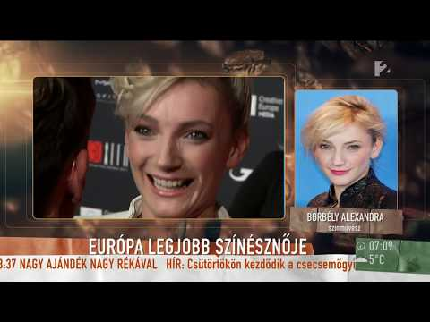 Borbély Alexandra könnyek között vette át a legjobb színésznőnek járó Európai Filmdíjat
