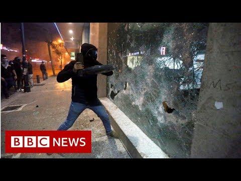 Lebanon protesters hit