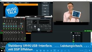 USB Audio Interface Steinberg UR44 mit DSP Effekten für Skype und Co.