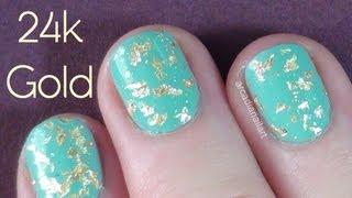 DIY Gold Leaf Nails - 24 Carat Gold Topcoat