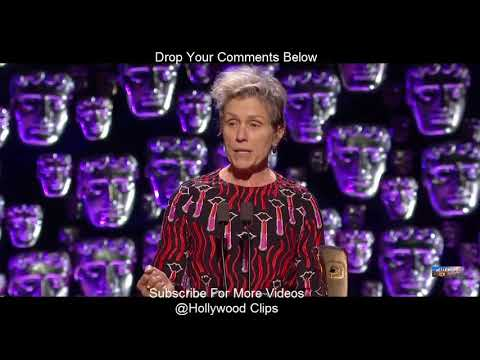 Frances McDormand Speech at 71th British Academy Film Awards 2018 BAFTA By Hollywood Clips