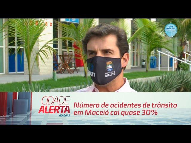 Número de acidentes de trânsito em Maceió cai quase 30%