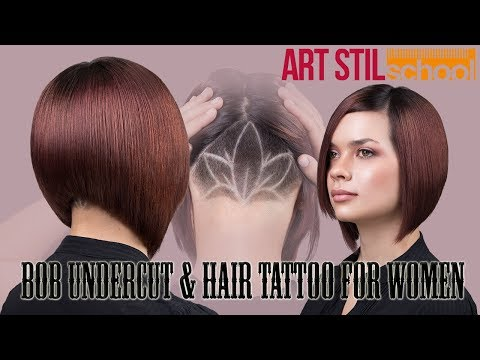 Bob Undercut & Hair Tattoo For Women