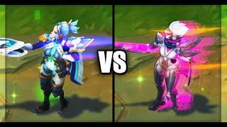 Pulsefire Fiora vs PROJECT Fiora Epic Skins Comparison (League of Legends)