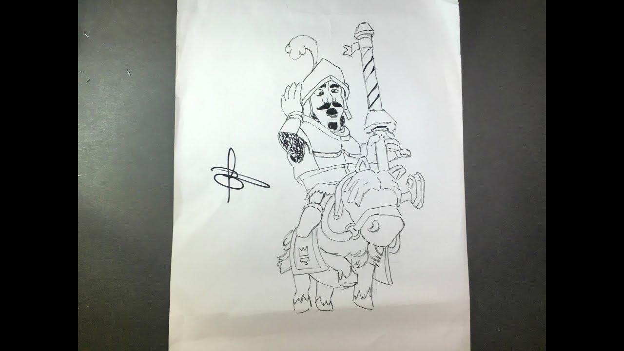 Dibujos Para Dibujar De Clash Royale: COMO DESENHAR PRINCE