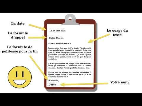 Comment écrire Une Lettre à Un Correspondant En Français