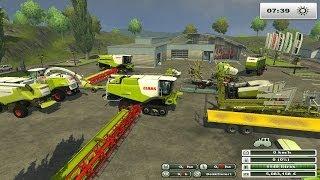 farming simulator 2013 claas land pleins de  claas au boulot (présentation des mods claas)(Bonjour à tous!! Nos partenaires::::::::::::::::::::::::::::::::::::::::::::: Instant Gaming JEU -70% http://www.instant-gaming.com/igr/jouonsdanslepre/ On joue sur serveur en., 2013-11-25T03:00:11.000Z)