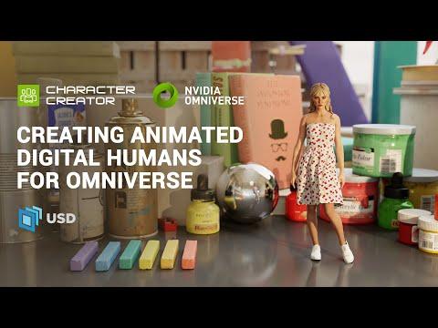 Creating Animated Digital Humans for NVIDIA Omniverse | Character Creator 3