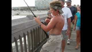 180 lb Bull Shark at Folly Beach Pier