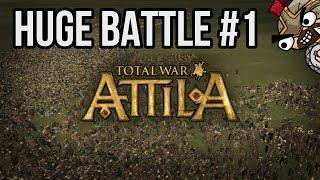 ▶ TOTAL WAR: ATTILA - HUGE BATTLE   500 Roman Elites vs. 10000 Saxons  #1