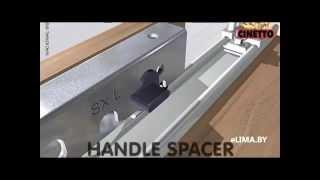 Система раздвижных дверей купе (роликов и направляющих) для шкафов купе Cinetto PS10(Видео работы современных систем раздвижных дверей купе (системы роликов и направляющих) для изготовления..., 2015-04-19T21:08:15.000Z)