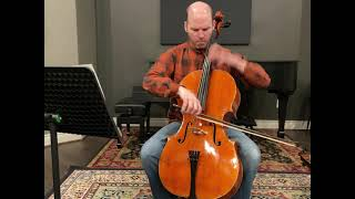 A modern cello by Andrew Carruthers