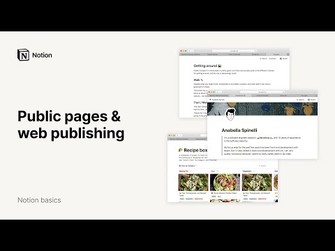 Publish Notion pages to the web