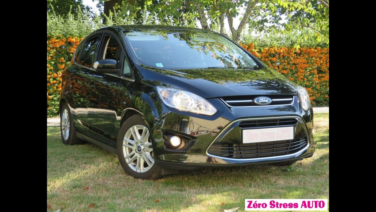 ford c max ecoboost 125 titanium 2014 noir scala sync zero. Black Bedroom Furniture Sets. Home Design Ideas