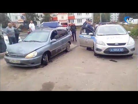 Утро в Западном районе Великого Новгорода началось с погони со стрельбой