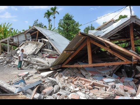 Terremoto en turística isla de Indonesia