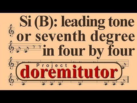 How to read music  Seventh degree or leading tone in four  four