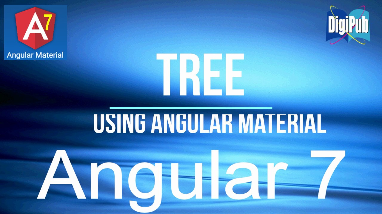 Realization of Tree function by Angular Material in Angular7