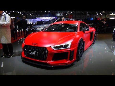 Audi R8 Abt Red Black Walkaround Details Geneva Autoshow