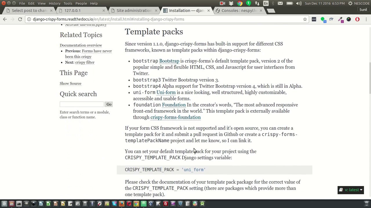 Add Crispy forms in blog apps - YouTube