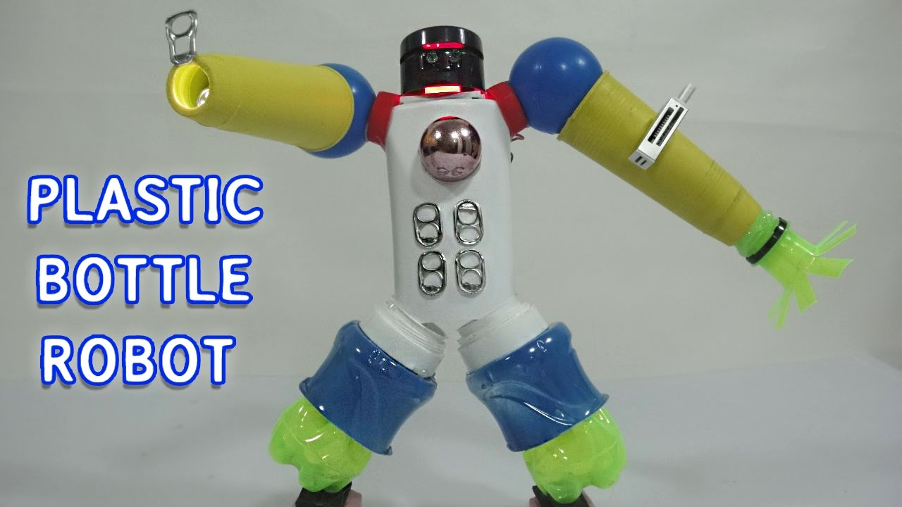 Plastic bottle robot toy for kids 2 diy project youtube for What can we make out of plastic bottles
