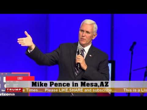 Mike Pence event in Mesa, AZ (9-22-16)