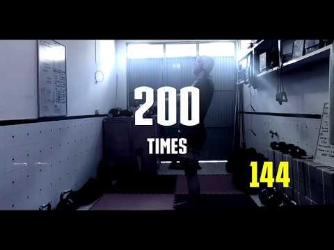 200 unbroken kettlebell swing - 28 kilos - 동영상