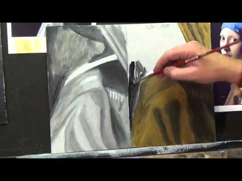 HOW TO PAINT FOLDS IN MATERIAL #3 ,Acrylic painting for beginners, #clive5art
