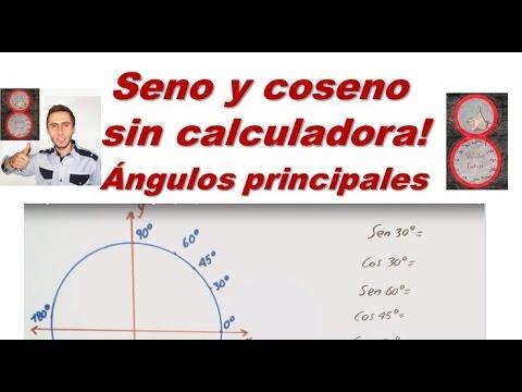 Seno y coseno sin calculadora  ángulos principales ( ángulos notables)