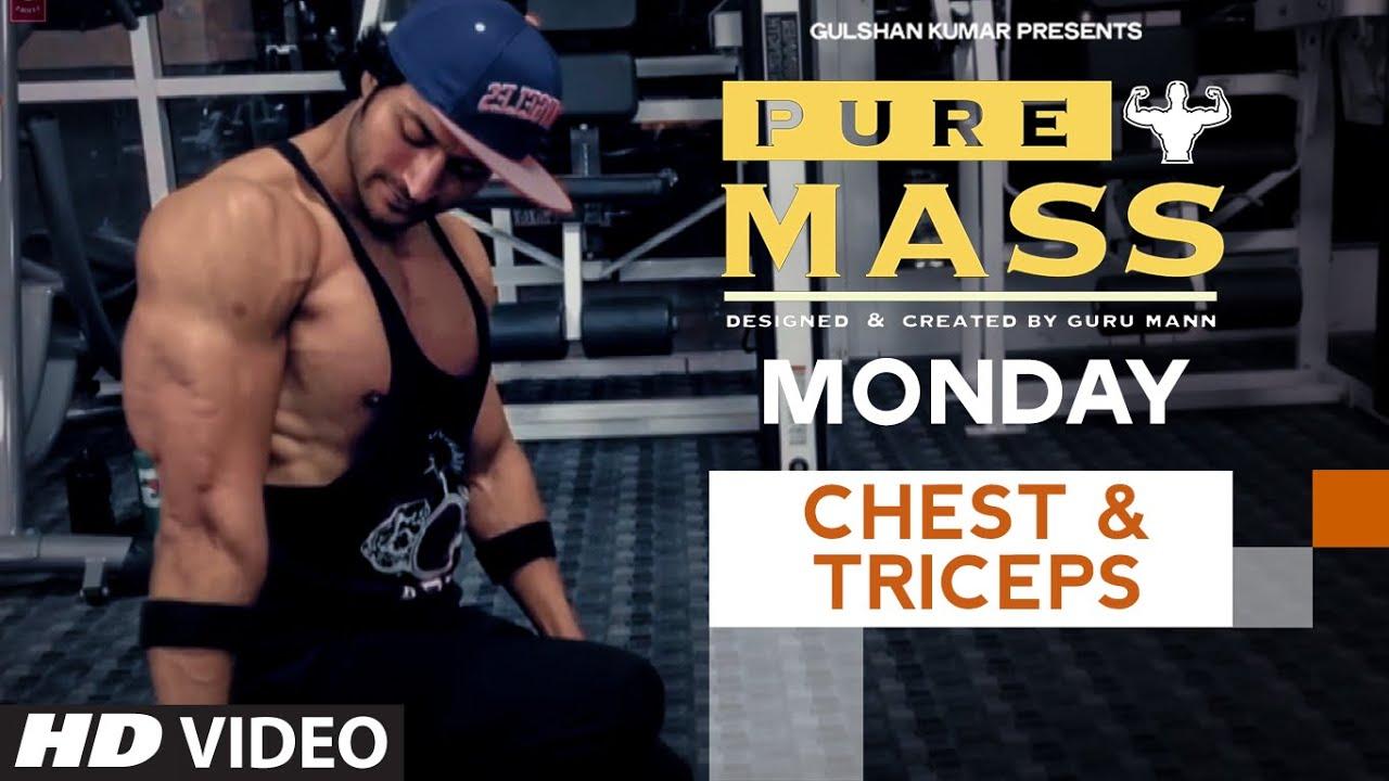 Workout Calendar By Guru Mann : Monday chest triceps workout pure mass program by
