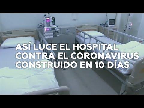 Así é o hospital construído por China para enfrontarse ao coronavirus