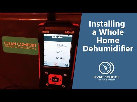 Installing A Whole Home Dehumidifier