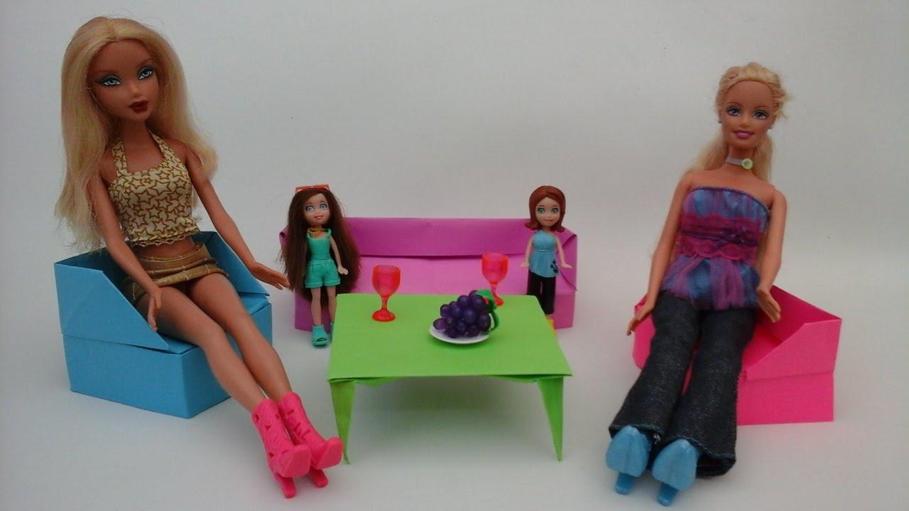 Como hacer un sofa de papel para mu ecas barbie monster high youtube - Como hacer un sillon paso a paso ...
