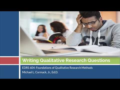 Qualitative Research Questions