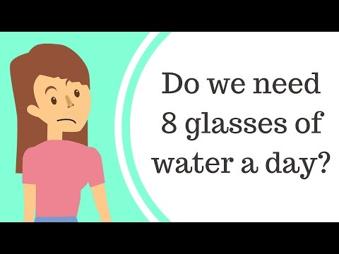 Do you really need 8 glasses of water a day?