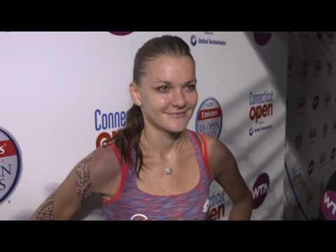 Agnieszka Radwanska 2016 Connecticut Open Quartefinal Interview