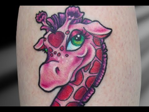 Tattooing a new skool giraffe vat tattoo series youtube for New skool tattoos