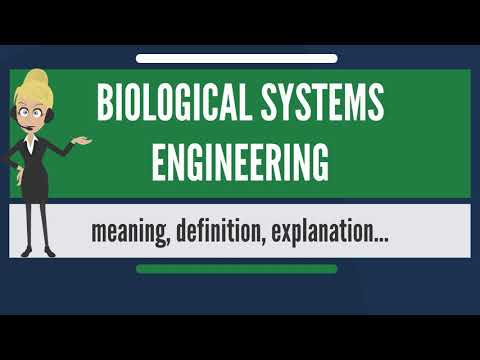 What is BIOLOGICAL SYSTEMS ENGINEERING? What does BIOLOGICAL SYSTEMS ENGINEERING mean?