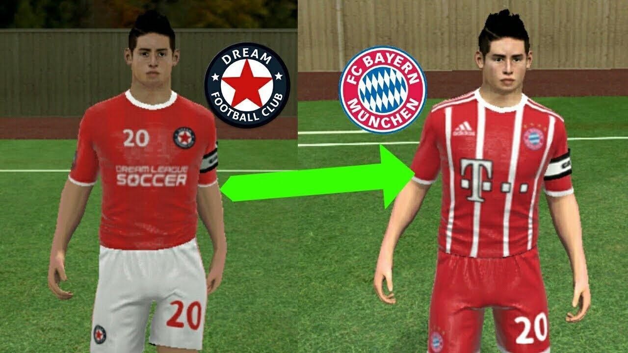 new style 4319d 00901 How To Import Bayern Munich 2018 Kits and Logo (Dream League Soccer 18)