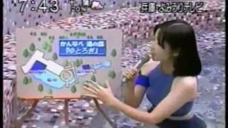 元よみうりTVで結婚退職した村上順子アナのセクシーなレポート。