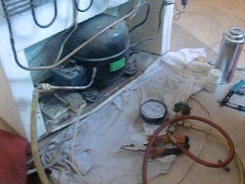 Заправка холодильника фреоном  на дому (этапы ремонта)