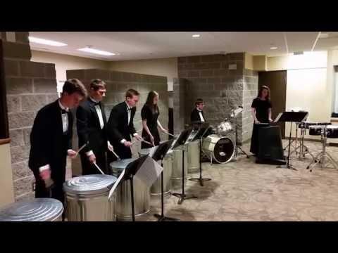 Decorah High School percussion- Trash Cans