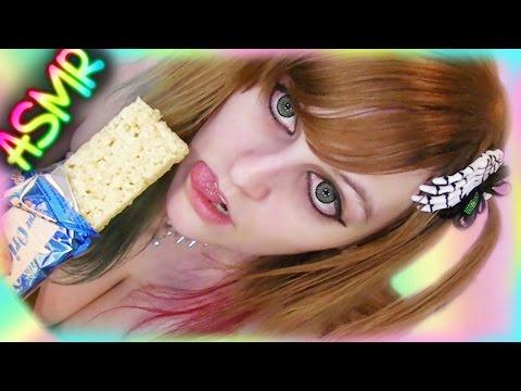 ASMR 🍪 Rice Krispy Treat ░ CRUNCH ♡ Mandela Effect, Food, Eating, Candy, Krispies, Krispie, Crispy ♡