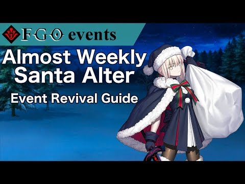 Fgo Christmas 2019 Rerun Almost Weekly Santa Alter Revival | FGO NA Christmas 2017 Rerun