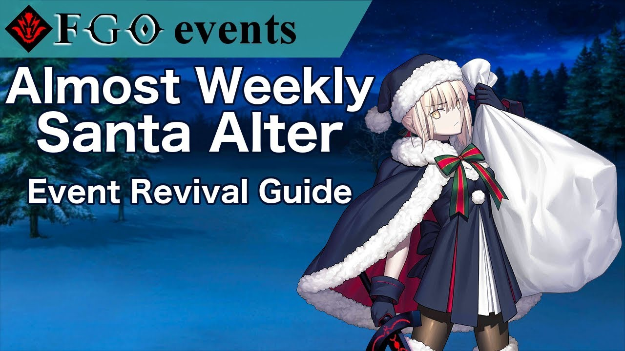 Fgo Christmas 2019 Na Almost Weekly Santa Alter Revival | FGO NA Christmas 2017 Rerun