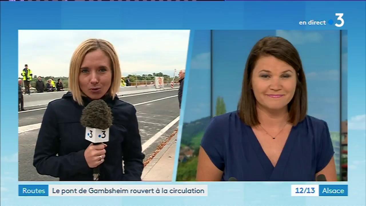 France Allemagne Le Pont De Gambsheim A Nouveau Ouvert A