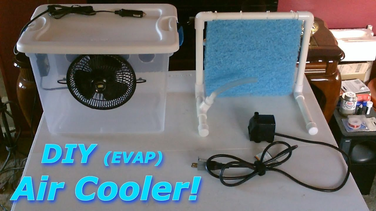 Diy Evap Air Cooler Tote Evap Ac Air Cooler Fits In A Window Or Desktop Can Be Solar Pwrd
