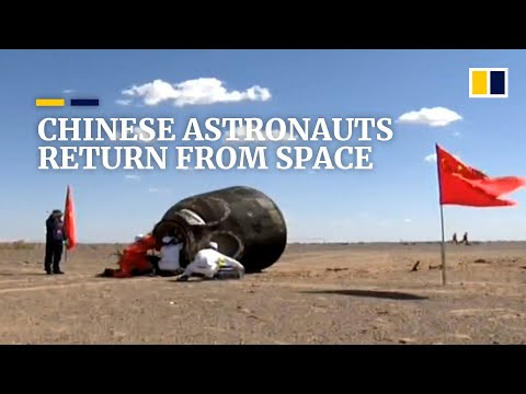 Chinese astronauts return to Earth in re-entry capsule from Tiangong space station